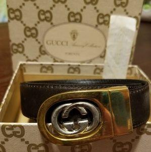 Vintage Gucci reversable womens belt